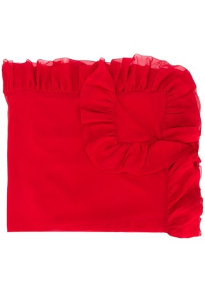 Giambattista Valli frill trim scarf - Red