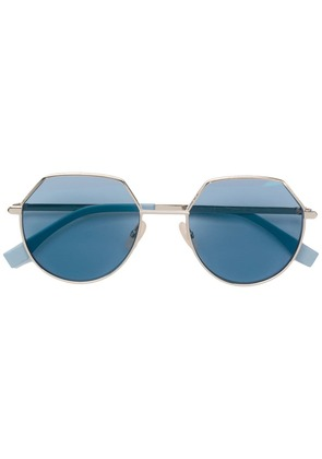 Fendi Eyewear round frame sunglasses - Blue