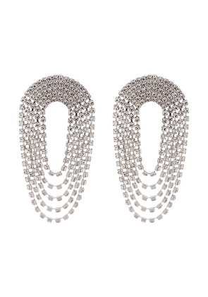 Alessandra Rich Crystal Drop Earrings - Metallic