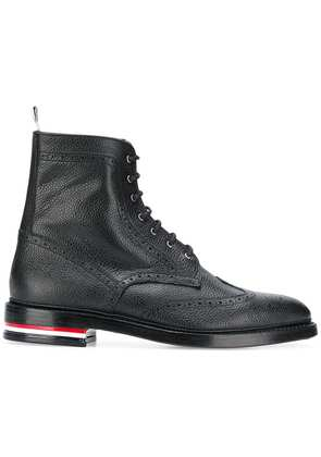 Thom Browne classic wingtip ankle boots - Black