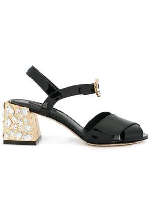 Dolce & Gabbana embellished heel sandals - Black
