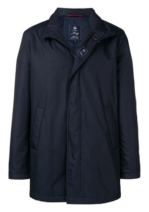 Fay funnel neck coat - Blue