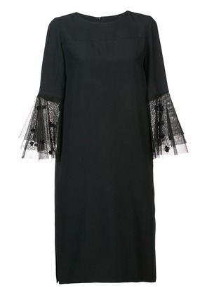 Akris Punto tulle bell sleeves dress - Black