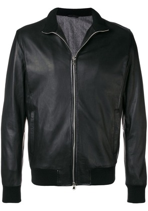 Barba front zip jacket - Black
