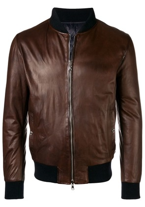 Barba front zip jacket - Brown