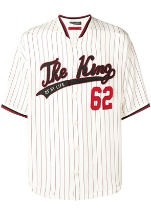 Dolce & Gabbana The King baseball shirt - White
