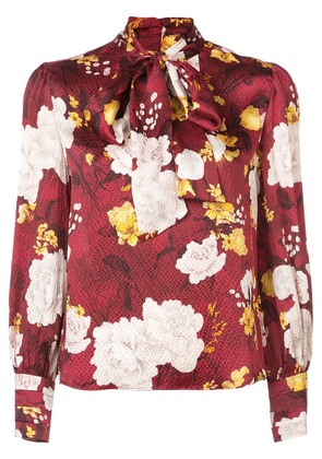 2f0c66a572b9 Alice+Olivia floral print tie neck blouse - Red
