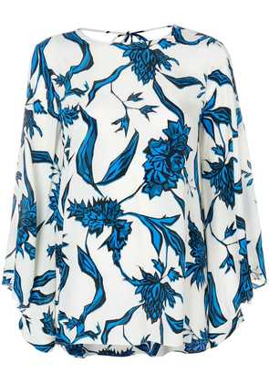 Dorothee Schumacher floral printed bell sleeve blouse - White