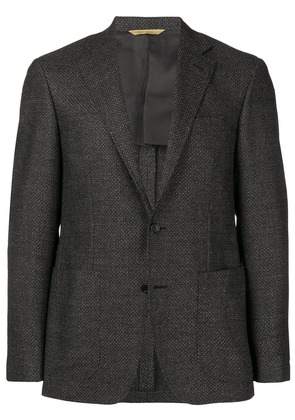 Canali slim-fitted suit jacket - Grey