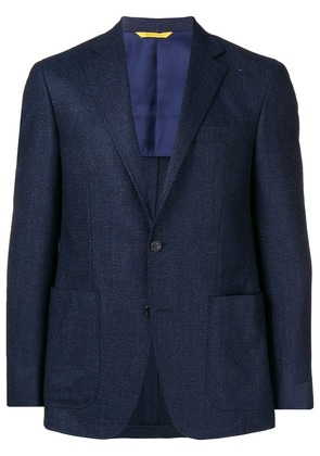Canali slim-fitted suit jacket - Blue