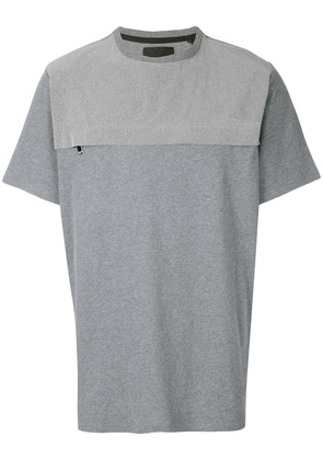 Blood Brother chest zip T-shirt - Grey