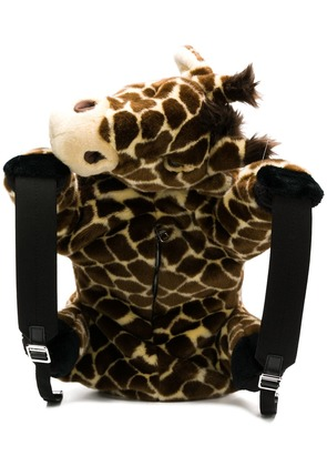 Dolce & Gabbana faux fur giraffe backpack - Brown