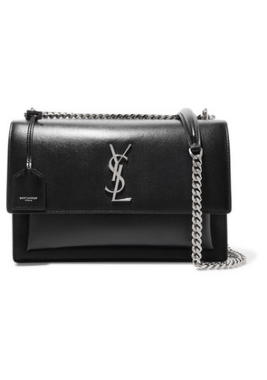 Saint Laurent - Sunset Large Leather Shoulder Bag - Black