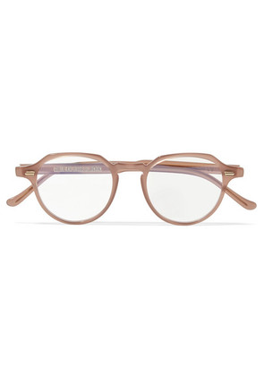 Cutler and Gross - Round-frame Acetate Optical Glasses - Beige