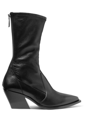 Givenchy - Leather Sock Boots - Black