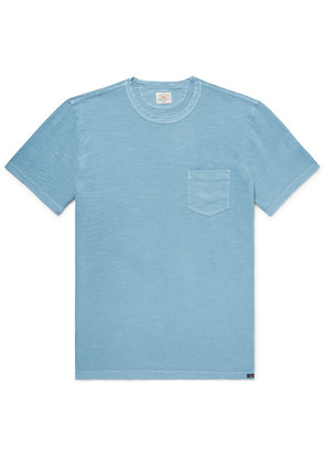 Faherty - Slim-fit Garment-dyed Slub Cotton-jersey T-shirt - Blue