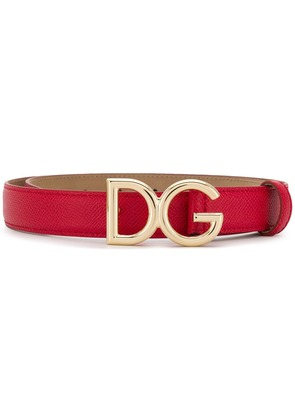 Dolce & Gabbana logo belt - Red