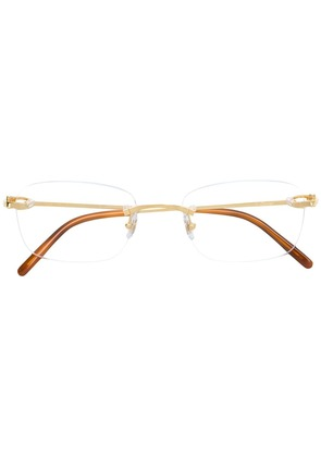 Cartier frameless square glasses - White