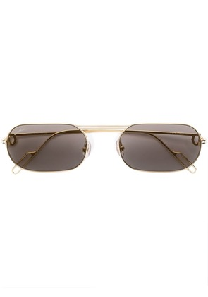 Cartier square tinted sunglasses - Gold