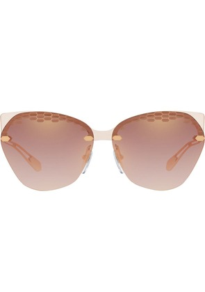 Bulgari oversized round sunglasses - Pink