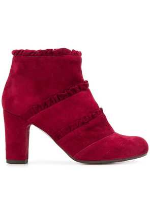 Chie Mihara ruffle detail ankle boots - Red