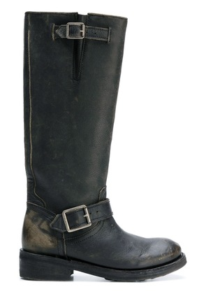 Ash distressed knee-high boots - Black