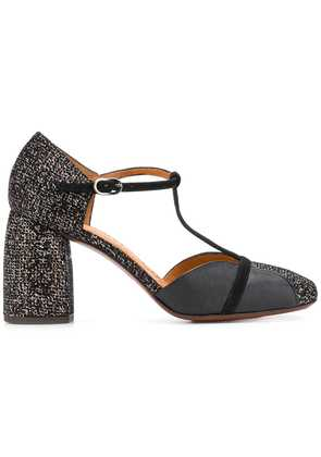 Chie Mihara t-bar two tone sandals - Black