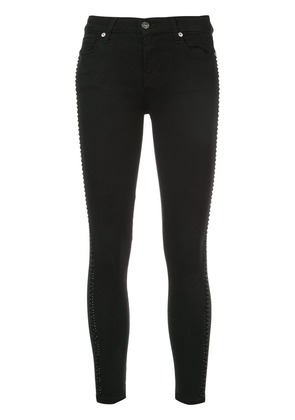 7 For All Mankind side crystals skinny jeans - Black