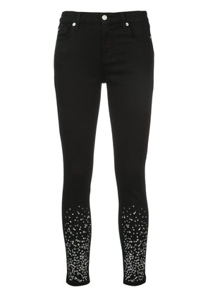 7 For All Mankind crystal embellished skinny jeans - Black