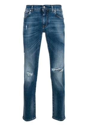 Dolce & Gabbana ripped detail jeans - Blue