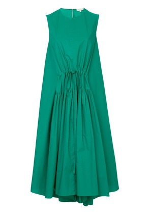 Delpozo drawstring front dress - Green