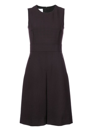 Akris Punto checked panel fitted dress - Red