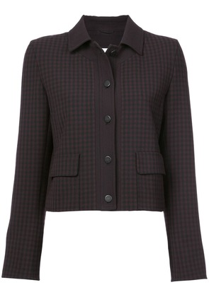 Akris Punto checked fitted jacket - Black
