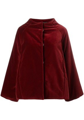 Gianluca Capannolo oversized velvet jacket - Red