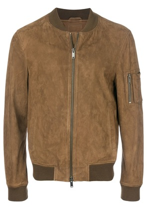 Desa 1972 leather bomber jacket - Brown