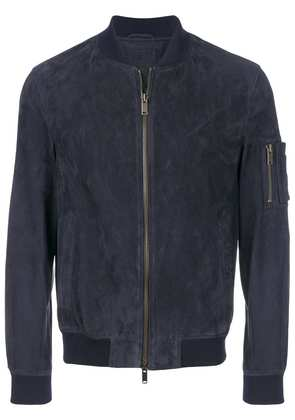 Desa 1972 leather bomber jacket - Blue