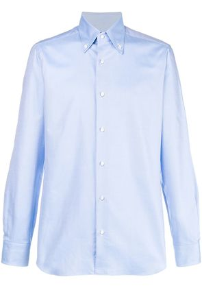 Barba plain formal shirt - Blue