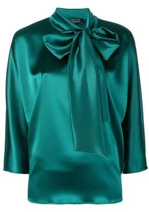 Gianluca Capannolo bow tie blouse - Green