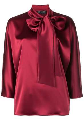 Gianluca Capannolo bow tie blouse - Red