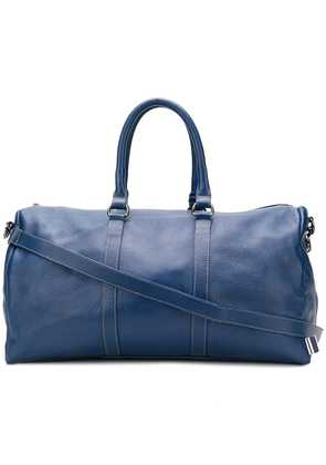 Fefè large leather holdall - Blue