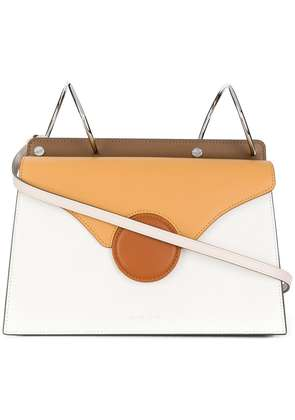 Danse Lente white and brown Phoebe leather cross-body bag