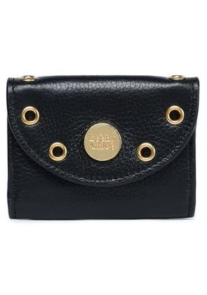 See By Chloé Woman Embellished Textured-leather Coin Purse Black Size -
