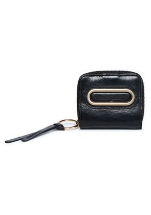 See By Chloé Woman Cracked-leather Coin Purse Black Size -
