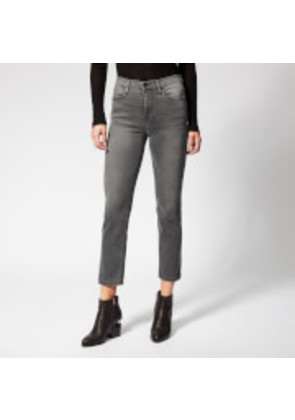 Frame Denim Women's Le High Straight Fit Jeans - Hunt - W25 - Black