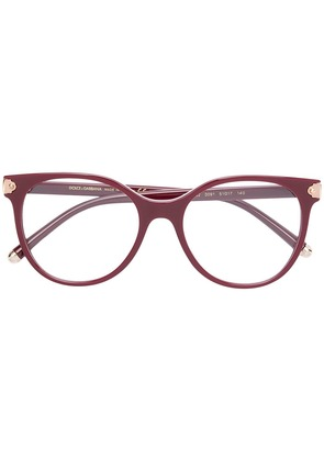 Dolce & Gabbana Eyewear round shaped glasses - Red