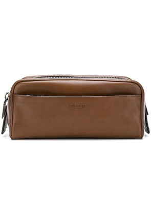 Coach dopp kit wash bag - Brown