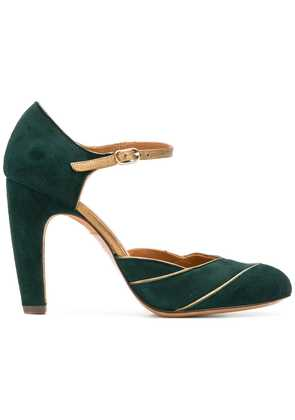 Chie Mihara pannelled pumps - Green