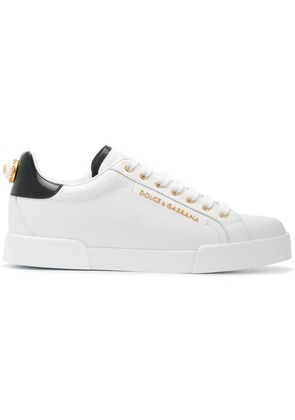 Dolce & Gabbana classic logo low-top sneakers - White