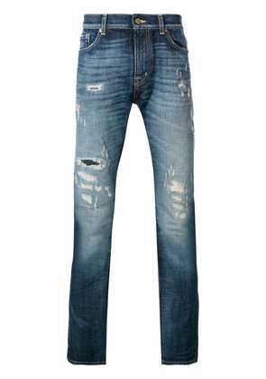 7 For All Mankind Ronnie ripped skinny jeans - Blue