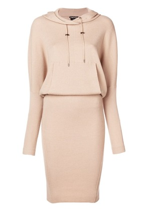 Tom Ford hooded knit dress - Neutrals